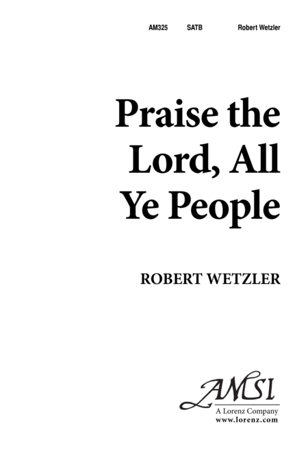 Praise the Lord, All Ye People