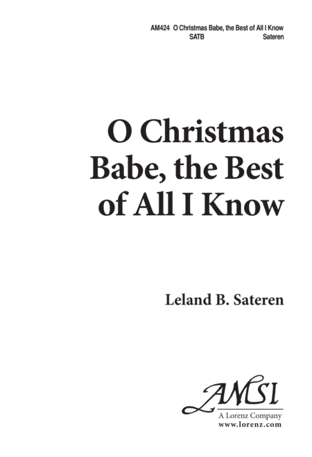O Christmas Babe, the Best of All I Know