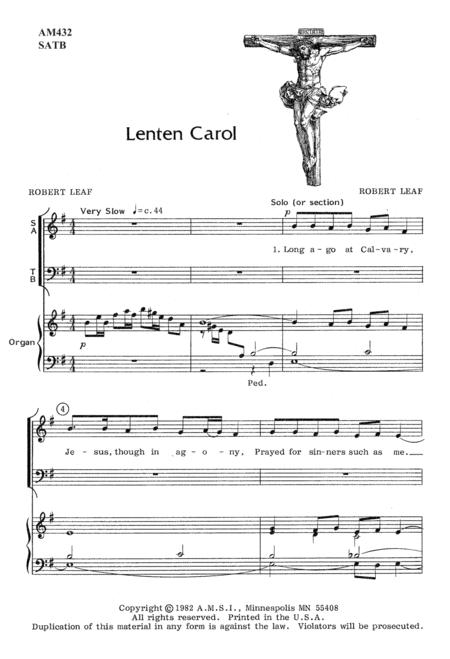 Lenten Carol