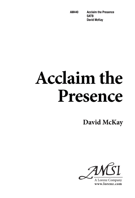Acclaim The Presence