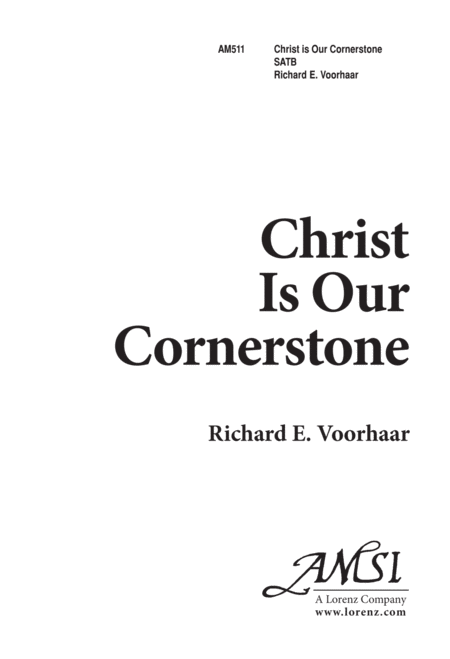 Christ Is Our Cornerstone