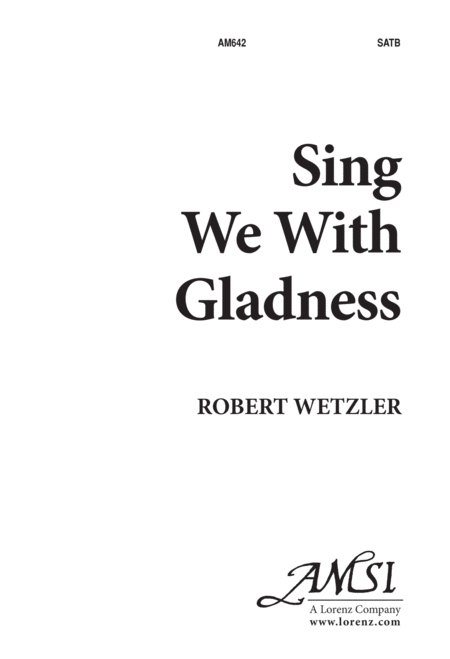 Sing We With Gladness