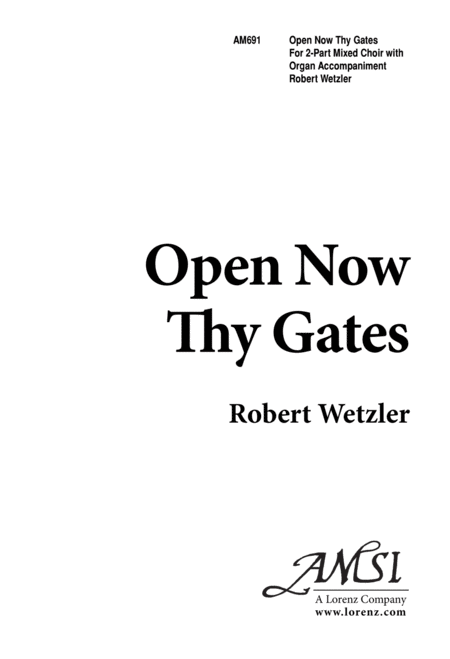 Open Now Thy Gates