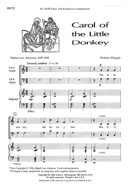 Carol of the Little Donkey