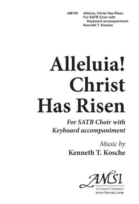 Alleluia, Christ Has Risen