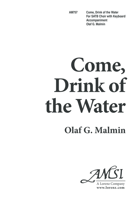 Come, Drink of the Water