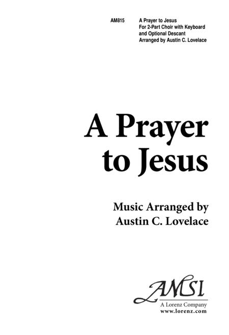 A Prayer to Jesus