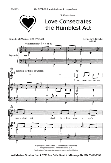 Love Consecrates the Humblest Act