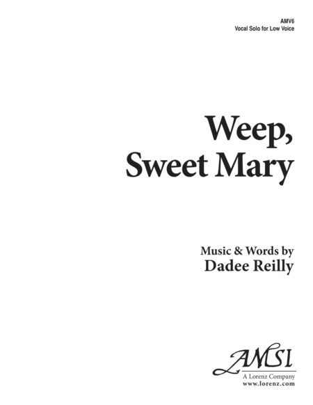 Weep, Sweet Mary