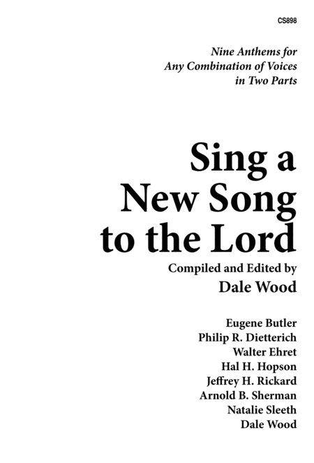 Sing a New Song to the Lord, Vol. 1