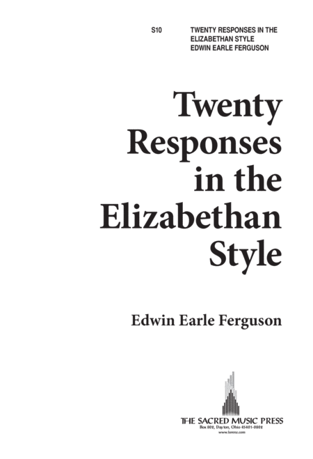 Twenty Responses in the Elizabethan Style