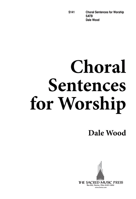 Choral Sentences for Worship