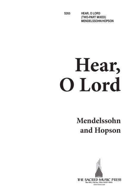 Hear, O Lord