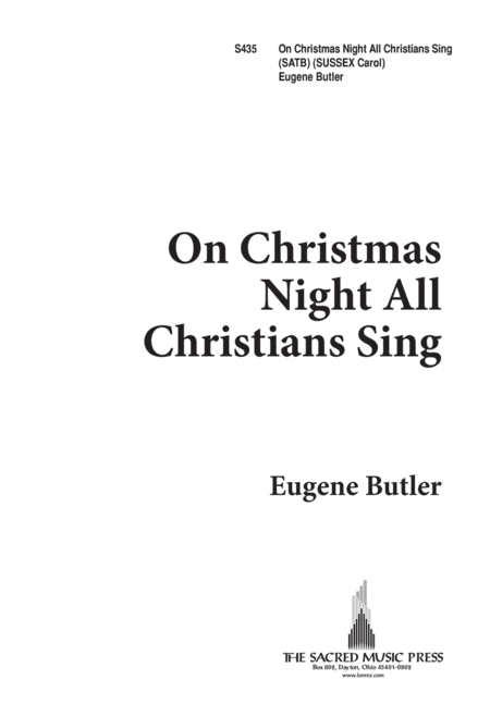 On Christmas Night, All Christians Sing