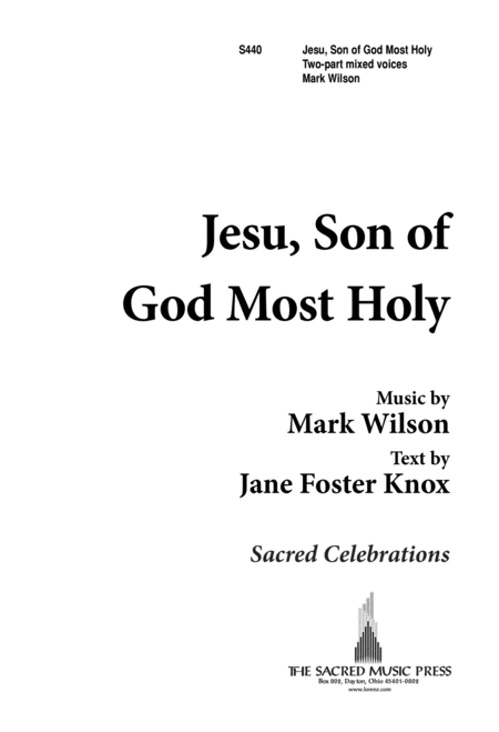 Jesu, Son of God Most Holy