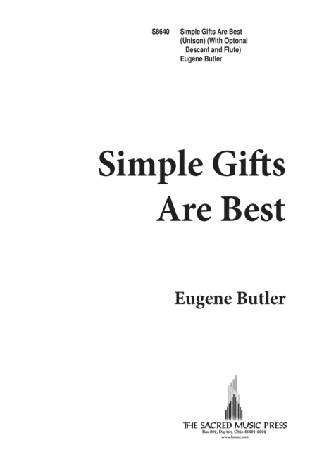 Simple Gifts Are Best
