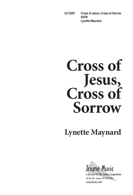 Cross of Jesus, Cross of Sorrow