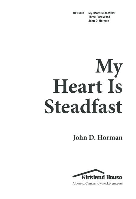My Heart is Steadfast