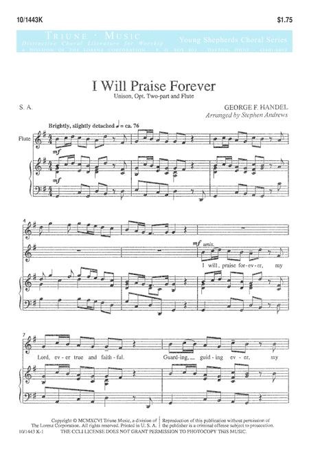 I Will Praise Forever