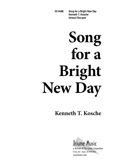 Song for a Bright New Day