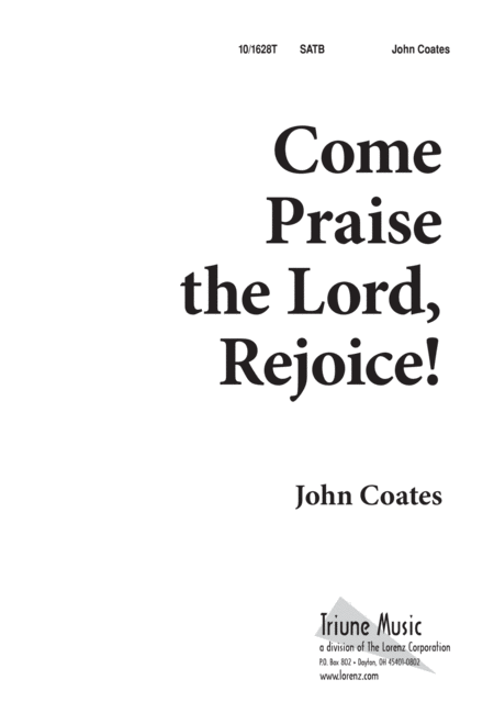 Come, Praise the Lord, Rejoice