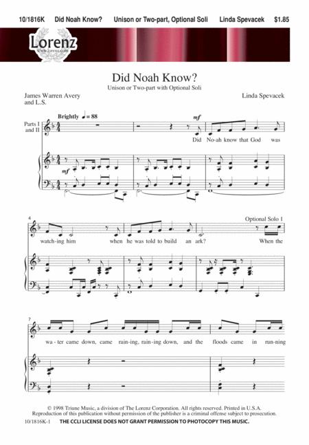 Did Noah Know?