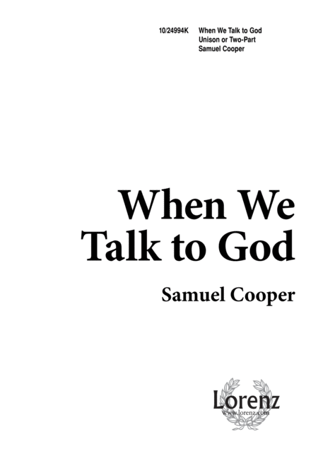 When We Talk to God