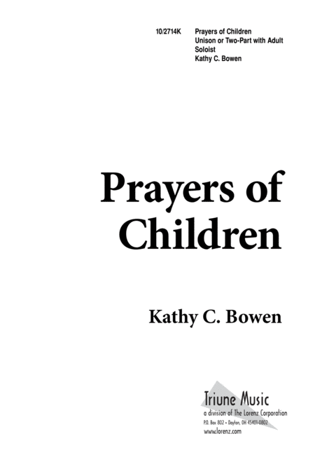 Prayers of Children