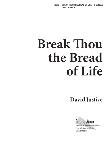 Break Thou the Bread of Life