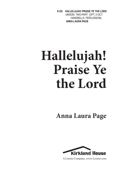 Hallelujah, Praise Ye the Lord