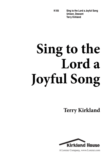 Sing to the Lord a Joyful Song