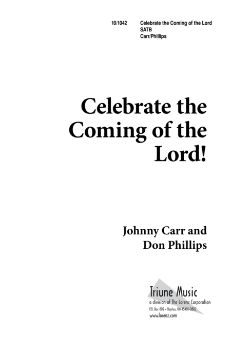Celebrate the Coming of the Lord