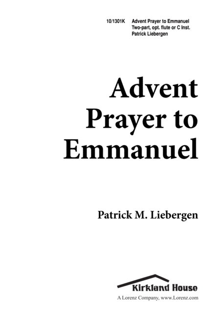 Advent Prayer To Emmanuel