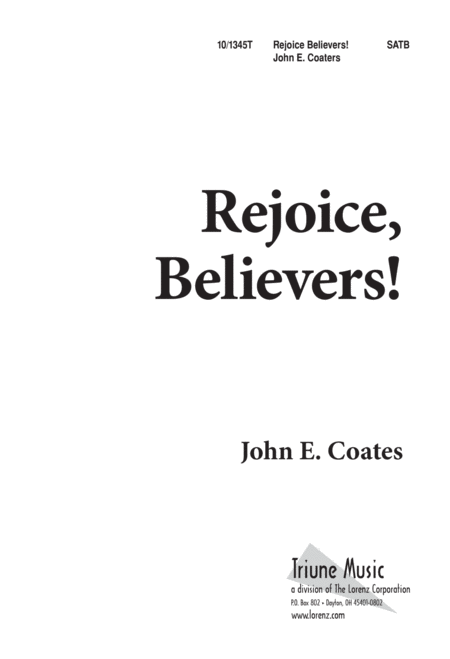 Rejoice, Believers