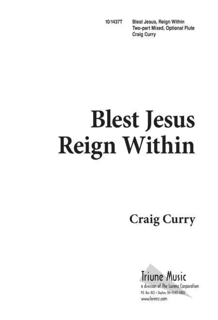 Blest Jesus Reign Within