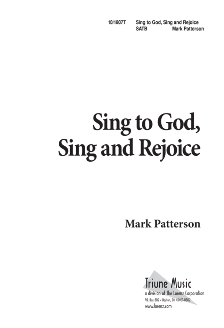 Sing to God, Sing and Rejoice