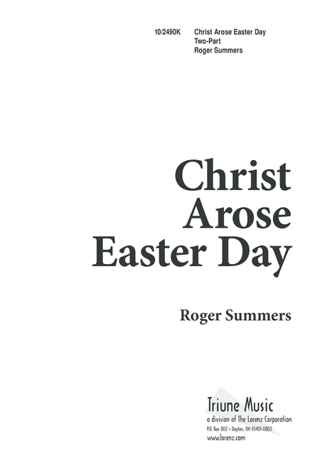 Christ Arose Easter Day