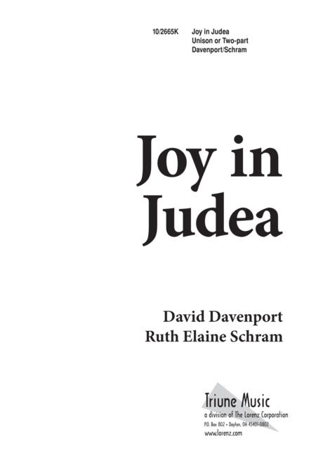 Joy in Judea