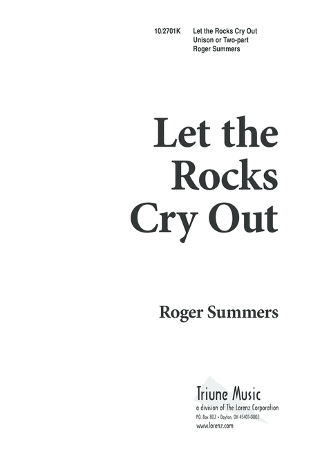 Let the Rocks Cry Out