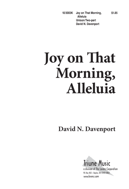 Joy on that Morning, Alleluia