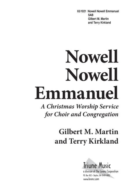 Nowell, Nowell, Emmanuel!