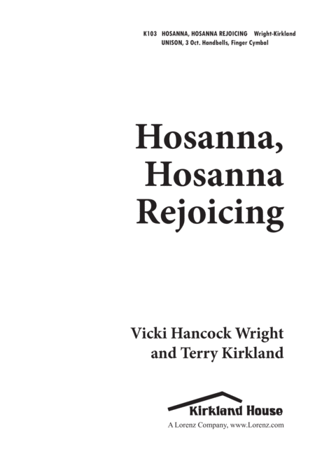 Hosanna, Hosanna, Rejoicing
