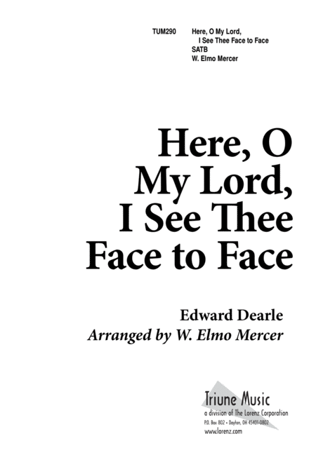 Here, O My Lord, I See Thee Face to Face