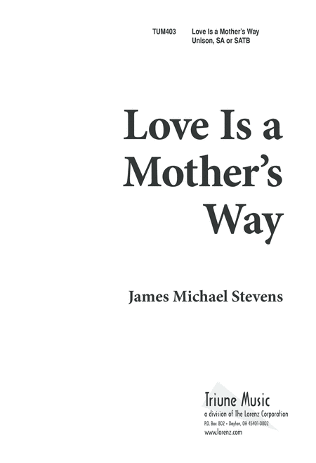 Love is a Mother's Way