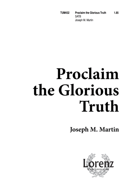 Proclaim the Glorious Truth
