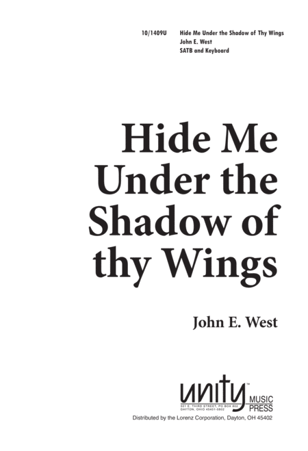 Hide Me under the Shadow of Thy Wings