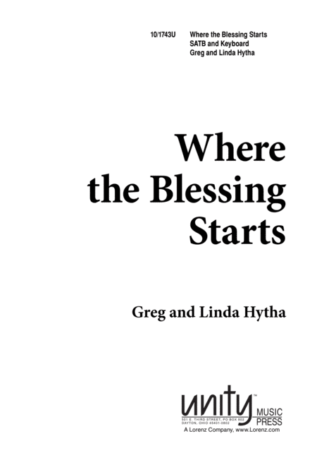 Where the Blessing Starts