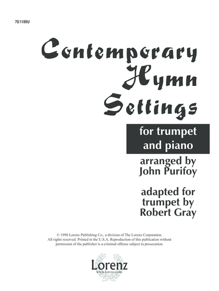 Contemporary Hymn Settings for Trumpet and Piano