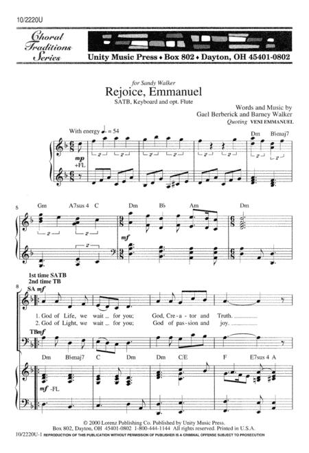 Rejoice, Emmanuel