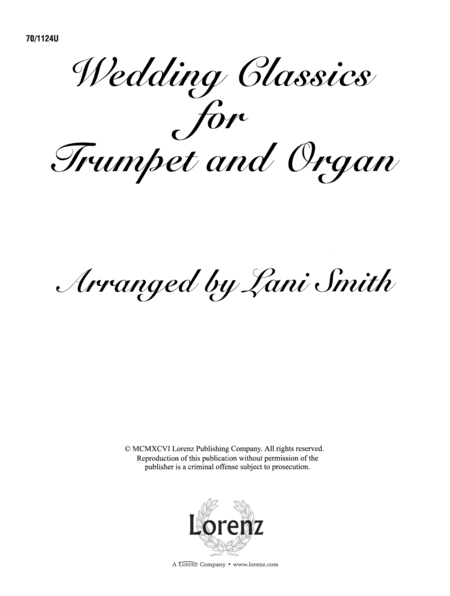 Wedding Classics for Trumpet and Organ